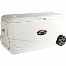 Cooler with Wheels 100 Qt 130 Cans Two Way Handles Picnic Camping Backya... - $92.91