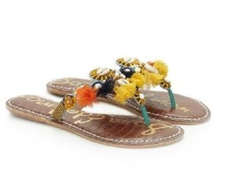 Sam Edelman Kiara Turquoise/Yellow Beaded Tasse... - $108.00
