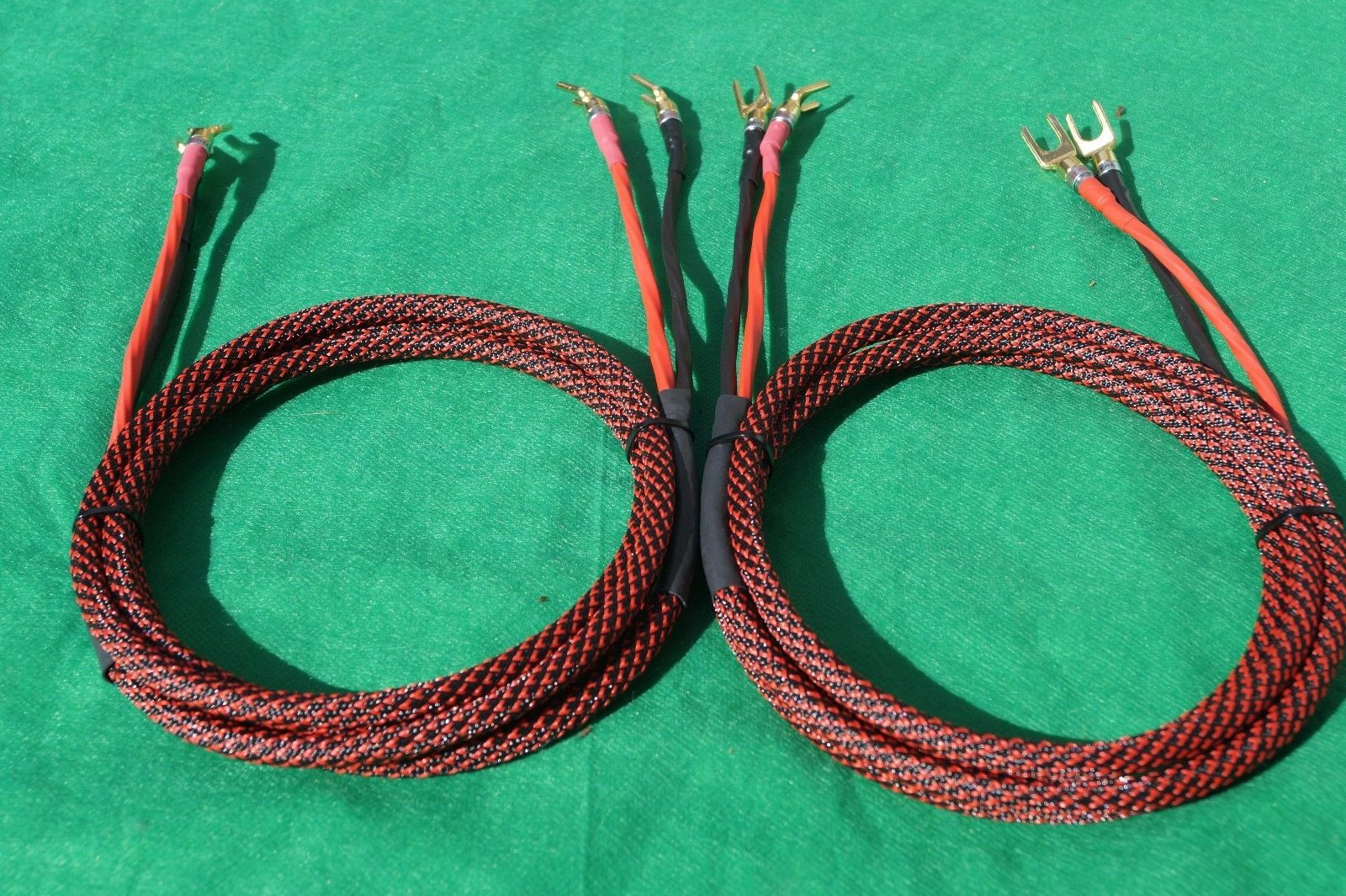 USA MADE. Elite Pure Copper BiWire Speaker Cable 1 Pair 15 Ft 2 to 4 Spades