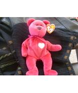 TY Beanie Baby Valentina 5th Gen Bear Retired Dec 23 1999 Mint Tags - $6.00