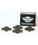 Harley-Davidson Napkin Rings Silver Bar and Shi... - $34.99