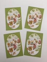 4 Vtg Hallmark Cards Adorable Animals Ice Skating Christmas Cards Raccoo... - $12.99