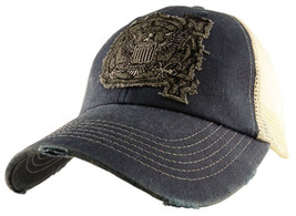 NEW U.S. Navy University Baseball cap hat. Grey mesh. 6215. - $15.83