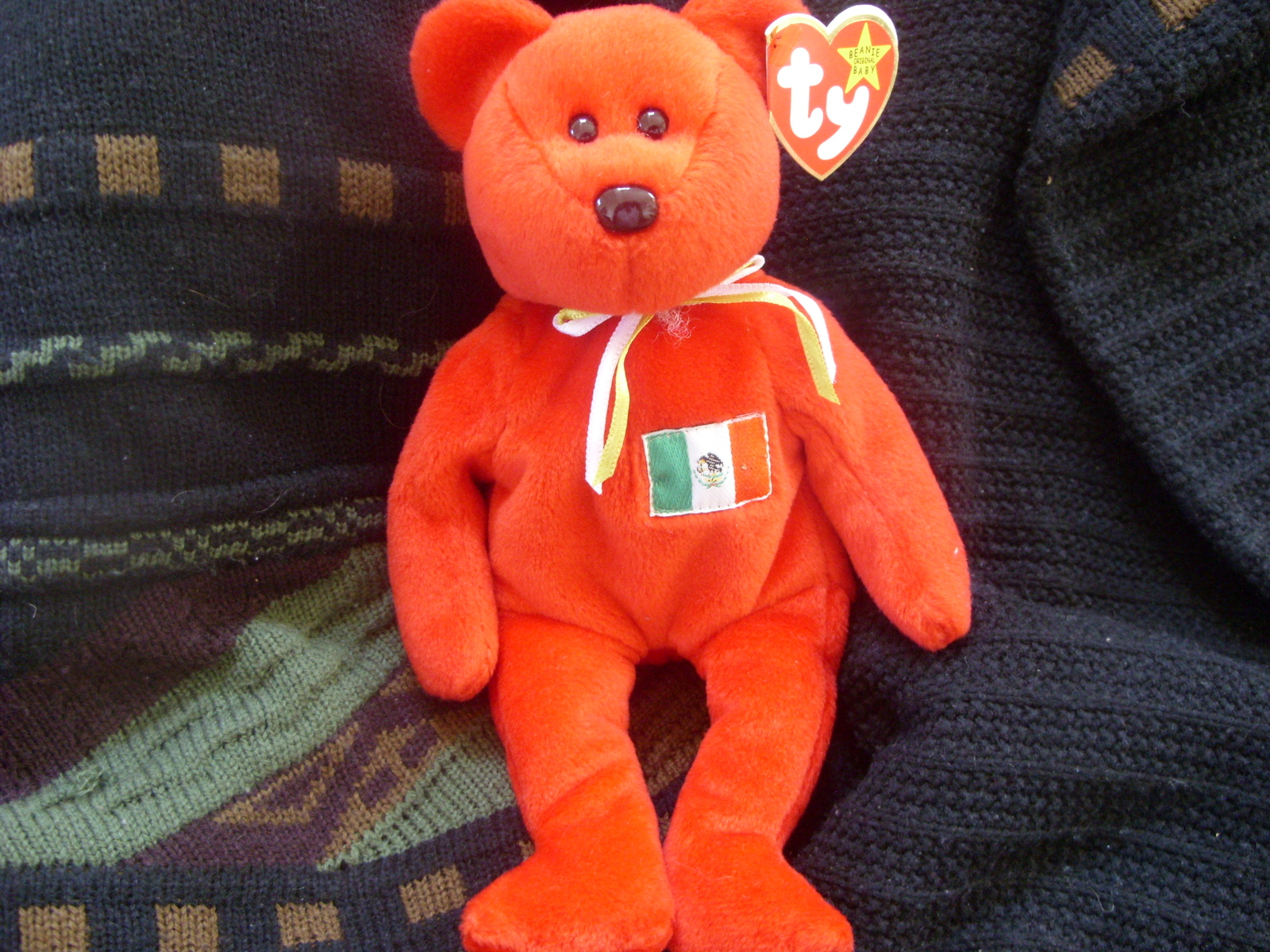 9440452335e TY Beanie Baby Osito Mexican Bear 5th Gen and 10 similar items. Sn851346