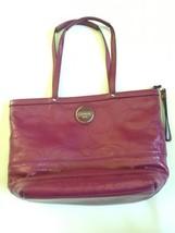 Coach Handbag Tote Patent Leather Hot Pink Stit... - $59.39