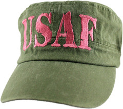 NEW USAF U.S. Air Force flat top Baseball cap hat. Green. 6280. - $15.83