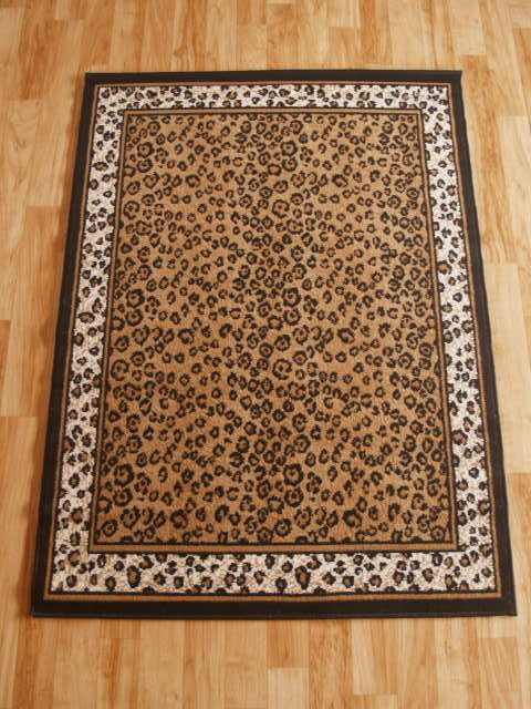 Leopard with leopard border