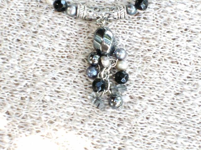Cookie Lee Genuine Hematite & Freshwater Pearl Necklace - Item #89186 - New!