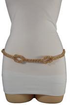 Women Gold Metal Narrow Fashion Belt Hip Waist Tentacles Infinity Buckle... - $15.67