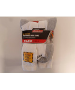 Dickies Size 12-15 Big and Tall Mens Comfort Crew Work Socks 6 Pairs White - $23.95