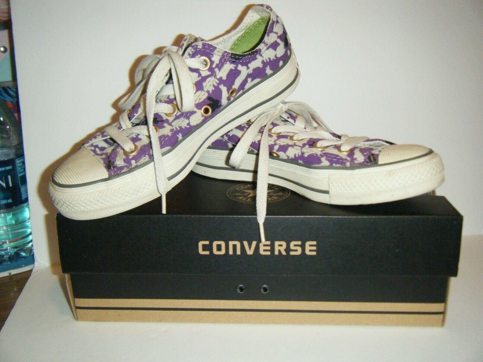 Converse All Star Tennis Shoes Mens 3 Womens 5 Ox Bunny Rabbit Purple Flocked image 2