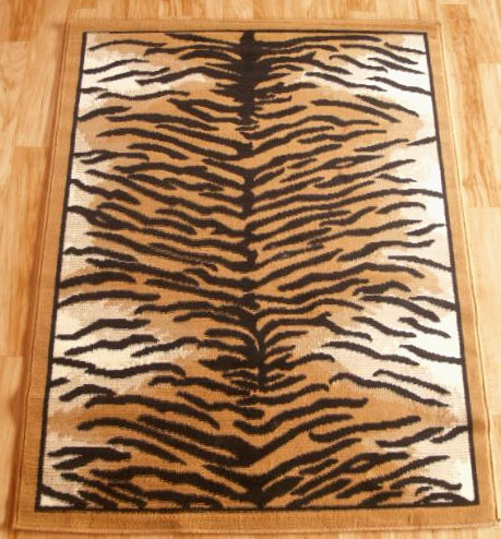 Tiger Print Area Rug 5ft x 8ft