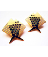 Laurel Burch Earrings Folkloric FISH Signed Pos... - $25.00