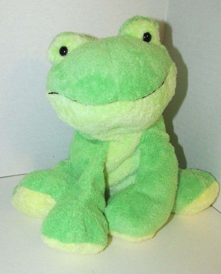 Primary image for Ty Pluffies Leapers Frog Plush Green yellow Stuffed Animal 2006 Tylux sitting