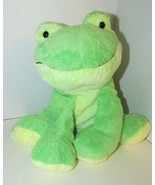 Ty Pluffies Leapers Frog Plush Green yellow Stuffed Animal 2006 Tylux sitting - $7.91