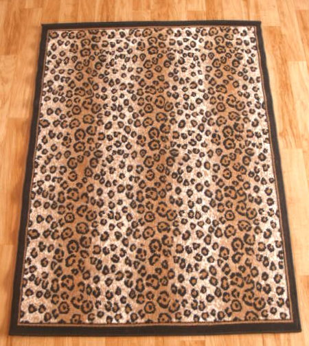 Leopard Print Area Rug 8ft. x 11ft.
