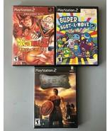 Dragon Ball Z Budokai, Rygar and Super Bust-A-Move 2 (Sony PlayStation 2... - $24.00