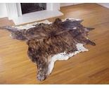 Dark brindle with white belly natural cowhide rug thumb155 crop