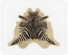 Zebra Print Cowhide Spinal Black on Light Beige - $299.00