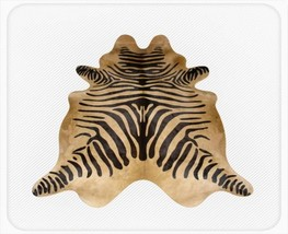 Zebra Print Cowhide Standard Black on Caramel - $299.00