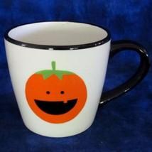 Halloween Pumpkin MUG Cup Flower Pot Candy Dish Centerpiece 32 oz White ... - $19.00