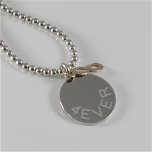 Necklace to Balls Silver 925 Jack&co with Infinity in Rose Gold 9KT JCN0548 image 2