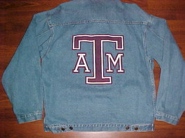 Red Oak NCAA SEC Texas A&M Aggies Football Blue Buttons Adult Denim Jack... - $34.64