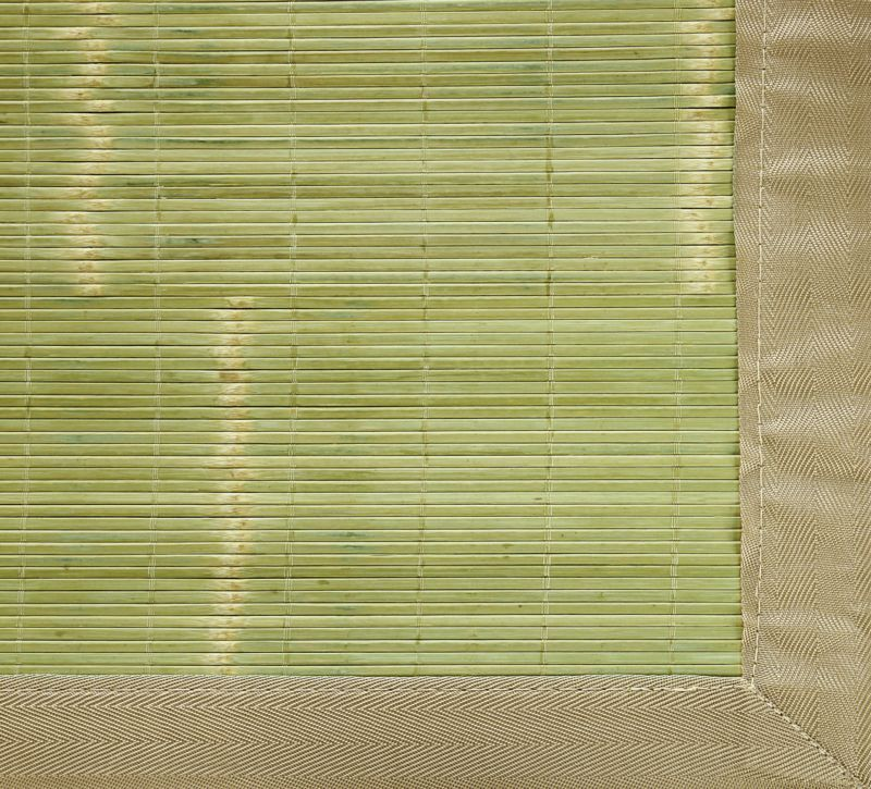 Key West Tropical Green Bamboo Rug 4ft. x 6ft.