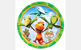"Dinosaur Train Edible Image Photo 8"" Round Cake Topper Sheet Personalize... - $9.99"