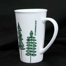 Starbucks 2015 Christmas Pine Tree Ceramic 17.8 oz Coffee Latte - $9.79