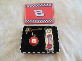 Nascar #8 Pocket Watch & Knife Set In Collector Tin - $9.90
