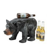 Cabin Lodge Decor Wild Animal Black Bear Step Stool Home Decor Bear Scul... - $157.86 CAD