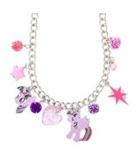 My Little Pony Princess Twilight Charm Necklace Crystals Heart Star - NWT - $14.94
