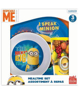 Despicable Me Minions ZAK 3 Piece Mealtime Dish Set Plate Cup Bowl  -  NIB - $22.99