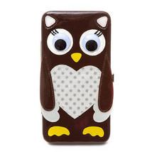 Googly Eye Owl Hardcase Wallet Really Cute - NWT - $20.69