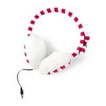 Pink & White Striped Earmuff Headphones Women's Girl's - NWT - $26.44