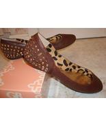 Gianni Bini 8.5 M Nutty Brown Leather Flats with Bling NIB - $69.99