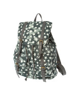 Gray Star Print Backpack School Book Bag - NWT - $45.99