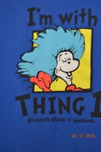"Universal Studios Orlando ""I'm with Thing 1""  T-Shirt Sz. XXL 2XL - $22.99"