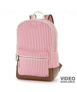 Candie's Pink & White Striped Backpack - NWT - $45.99