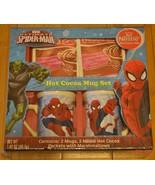 Marvel Ultimate Spiderman Nestle Hot Cocoa Mug Set 2 Mugs - NIP - $23.59