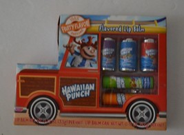 Hawaiian Punch 5 Fruit Flavored Lip Balms Berry Orange -  NEW - $12.97