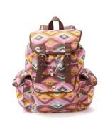 Candie's Anna Tribal Backpack Book School Bag Pink Brown Multi - NWT - $47.19