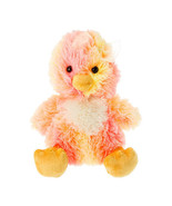"""Aurora Neon Plush Stuffed Chick with Bow Easter Yellow, Pink, Orange 9"""" ... - $23.59"""