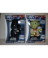 STAR WARS Darth Vader and Yoda Talking Light Up GUMBALL Dispenser SOUND NEW - $47.19