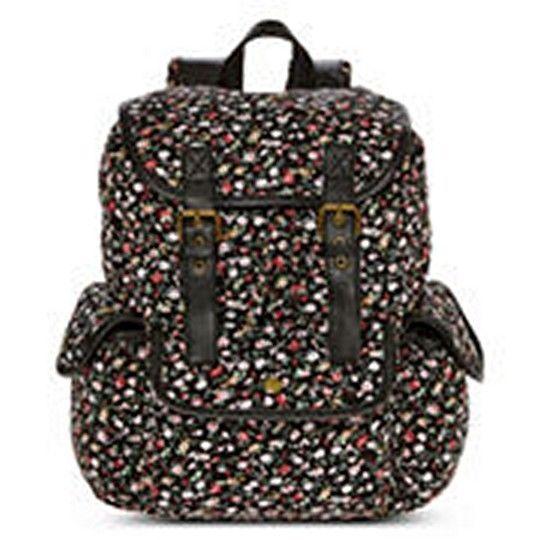 Olsenboye Floral Disty Print Backpack School Book Bag - NWT