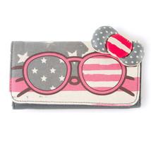 Hello Kitty Americana Tri-Fold Wallet Sunglasses Patriotic Stars Stripes - NWT - $20.64