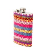 Embroidered Pastel Festival Print Flask Drinking - NWT - $17.69