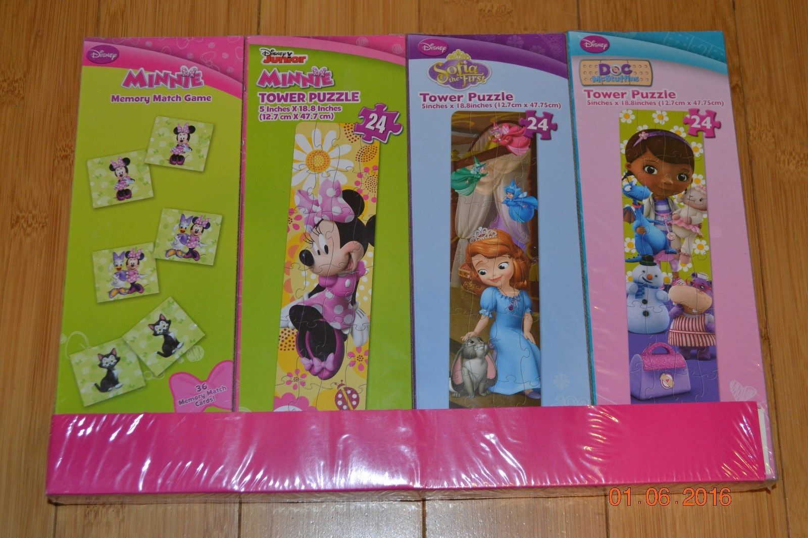 Primary image for Disney Minnie Mouse Doc McStuffins Sofia the First 3 Puzzles & Memory Match  NIP