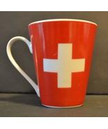 Switzerland Flag Coffee Mug White Cross Splash Arts - $20.05